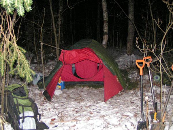 Палатка с тамбуром